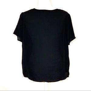 SHEIN Tops - NWOT V-Neck Mesh Insert Blouse Size - Large